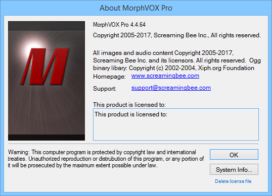 Screaming Bee MorphVOX Pro