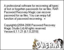 Recover passwords for RAR/WinRAR archives.