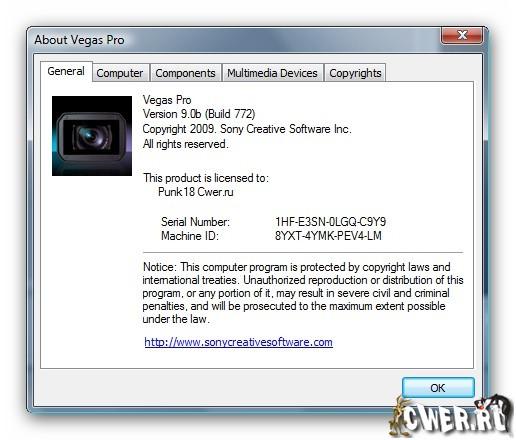 Sony Vegas Pro 11.