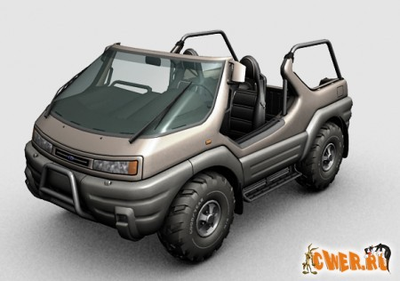 Intruder concept vehicle 3dsmax model
