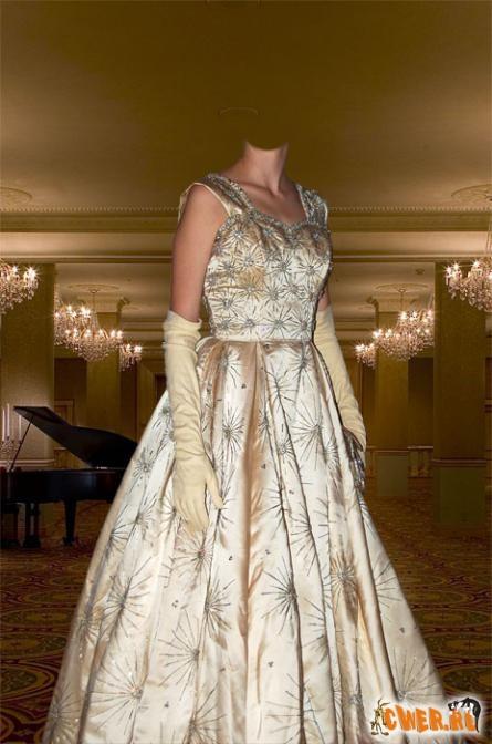 Дама в платье стиля ретро