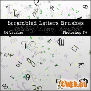 Scrambled Letters Brushes