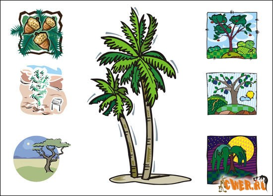 Векторный клипарт деревья