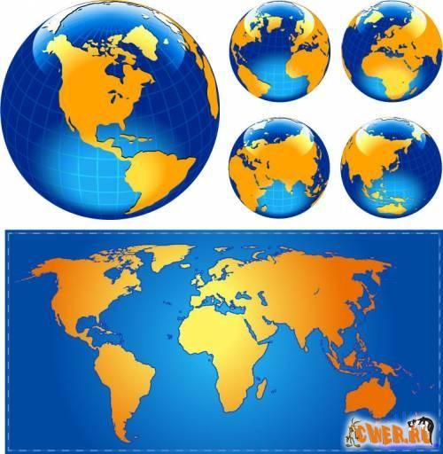 Глобус и карта - География