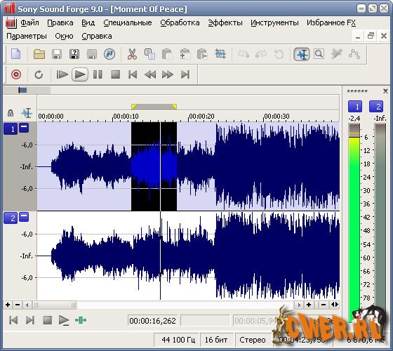 Sony Sound Forge - один из лидеров среди звуковых редакторов. Мощные