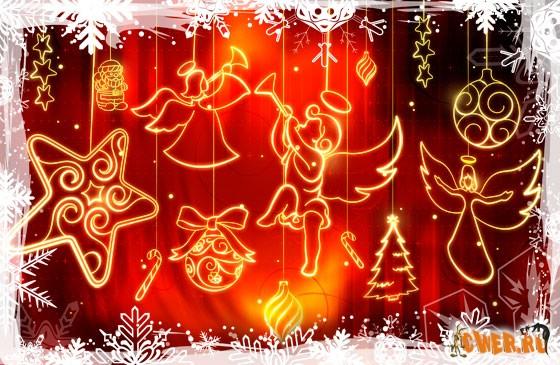 Новогодние орнаменты в PSD / Christmas ornaments PSD.