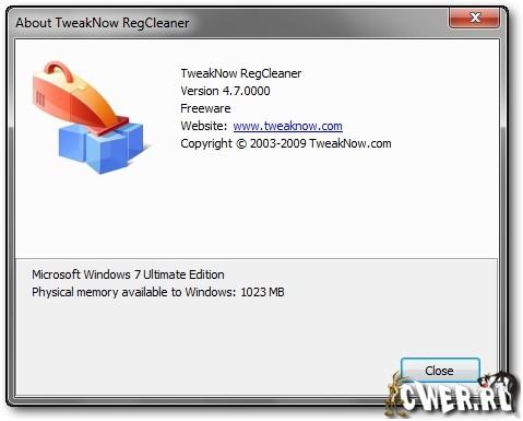 TweakNow RegCleaner 5.0.0 Free Edition + Rus , картинка номер 567096.