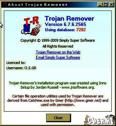 Регистрация и серийный номер Trojan Remover 6.7.2.2540 Username mohd.