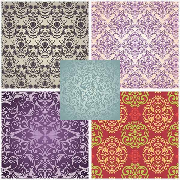 Damask templates and backgrounds vector (Cwer.ws)