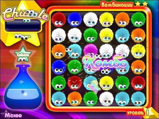 игра мохнатые шарики chuzzle deluxe играть онлайн - фото 10