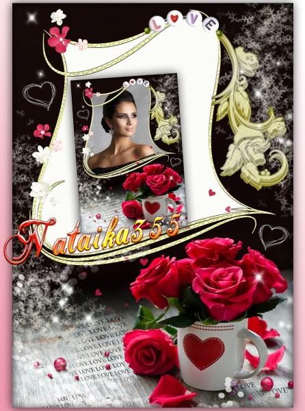 Фоторамка  со розами