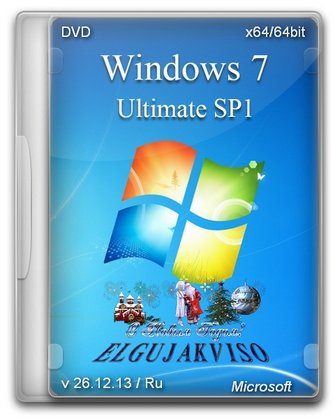 Windows 7 Ultimate SP1 x64 Elgujakviso Edition v26.12.13