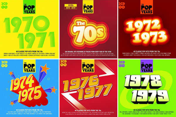 скачать The Pop Years 1970-1979: 10 CD (2010)