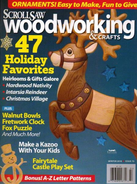 ScrollSaw Woodworking & Crafts №73 (Winter 2018)