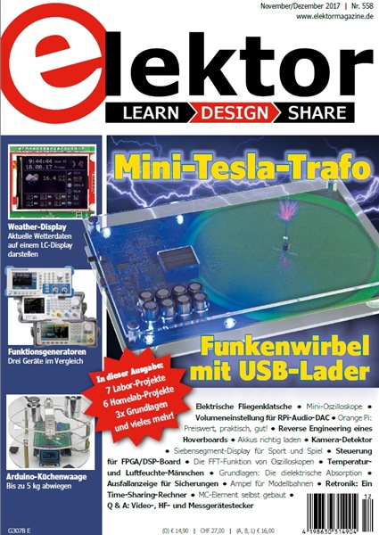 Elektor Electronics №11-12 (November-Dezember 2017) Germany