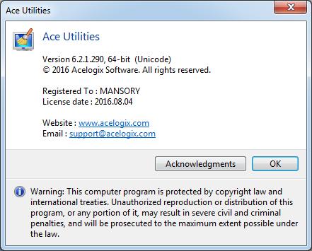 ace utilities 64 bit