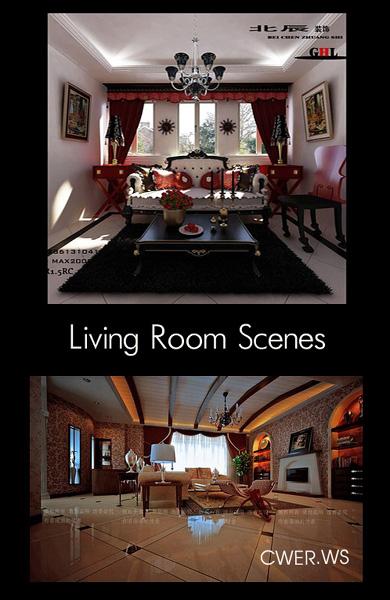 Классические гостиные для 3ds