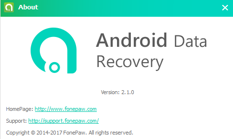 FonePaw Android Data Recovery 2.1.0