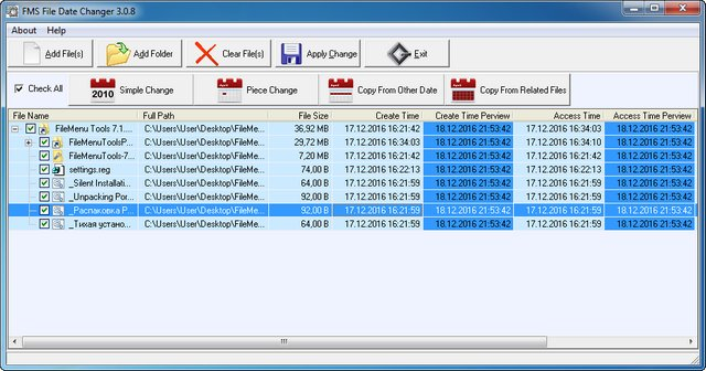 FMS File Date Changer 3.0.8
