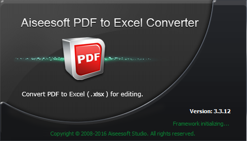 Aiseesoft PDF to Excel Converter 3.3.12