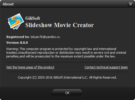 Gilisoft Slideshow Movie Creator 8.0.0
