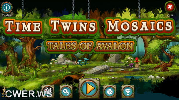 скриншот игры Time Twins Mosaics 3: Tales of Avalon