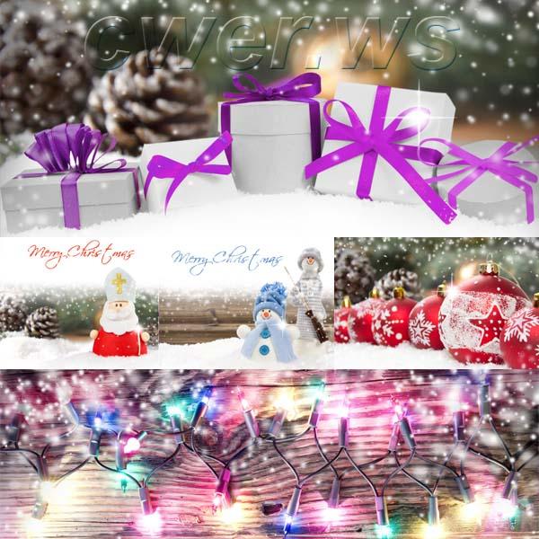 Новогодние открытки и рождественские композиции