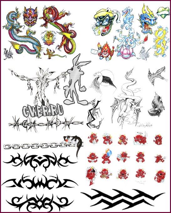 Большая набор татуировок