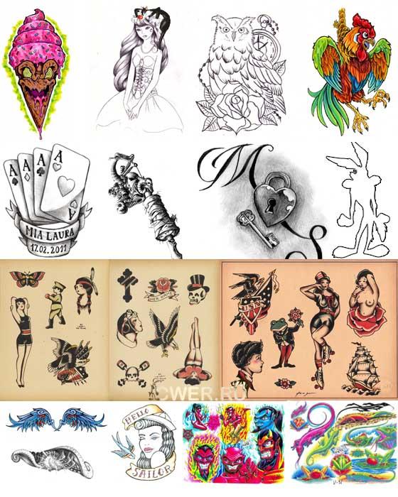 Большая собрание татуировок