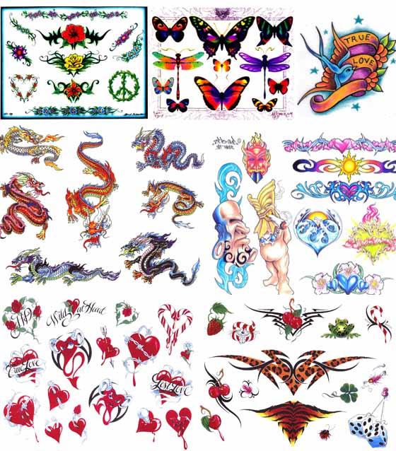 татуировки рисунки цветные