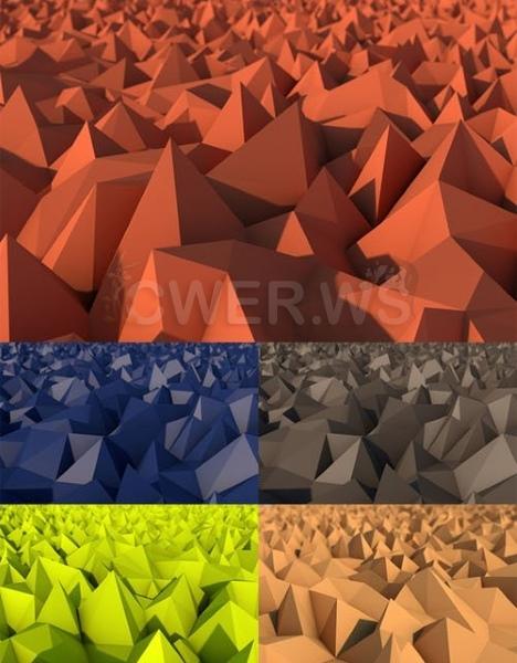 Абстрактные фоны с треугольниками