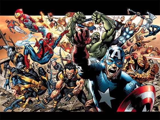 Великие герои комиксов marvel