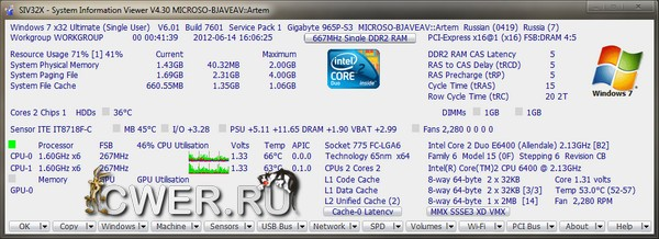 SIV - System Information Viewer 4.30