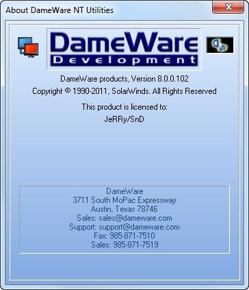 Dameware nt utilities 8