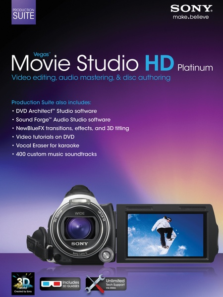 sony vegas movie studio hd platinum 11.0.283 production suite